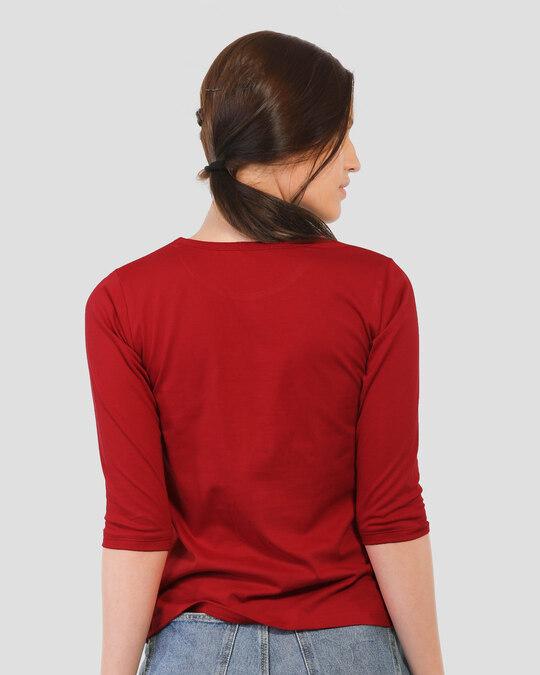 Shop Pocket Jerry Round Neck 3/4th Sleeve T-Shirt (TJL)-Design