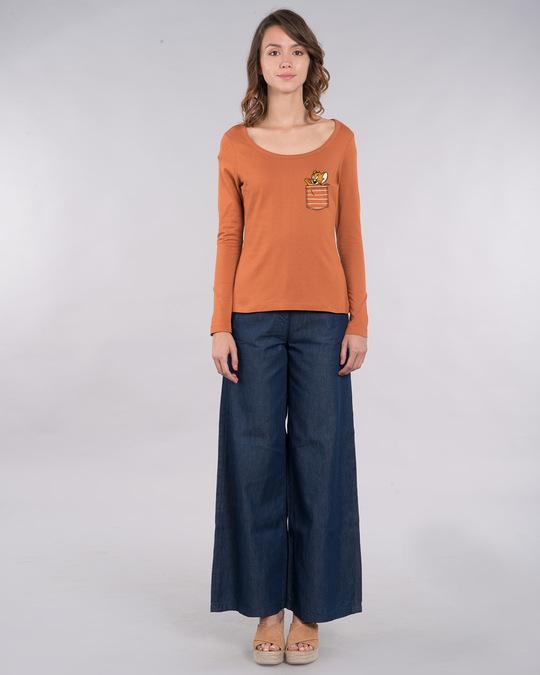 Shop Pocket Jerry Scoop Neck Full Sleeve T-Shirt (TJL)-Full