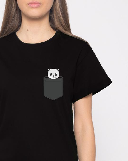 Shop Pocket Panda Boyfriend T-Shirt-Front
