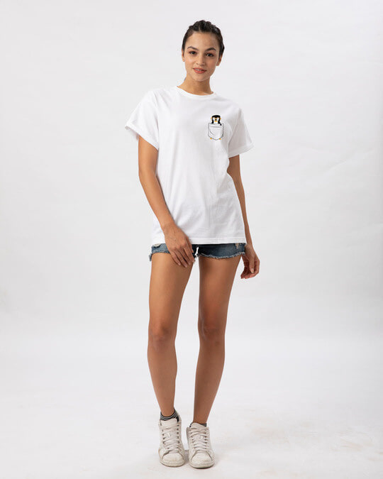 Shop Pocket Penguin Boyfriend T-Shirt