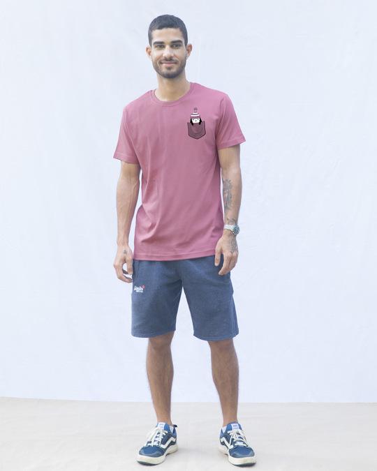 Shop Pocket Penguin Frosty Half Sleeve T-Shirt-Design