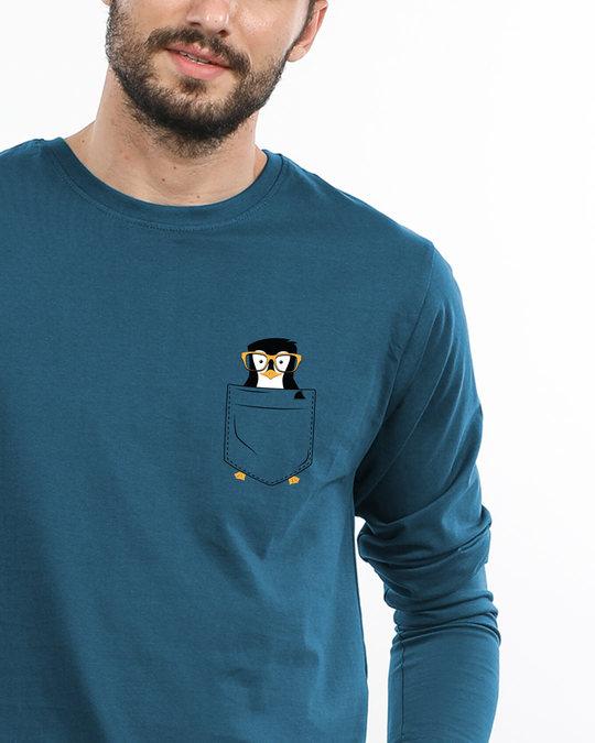 Shop Pocket Penguin Full Sleeve T-Shirt-Front