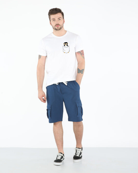 Shop Pocket Penguin Half Sleeve T-Shirt