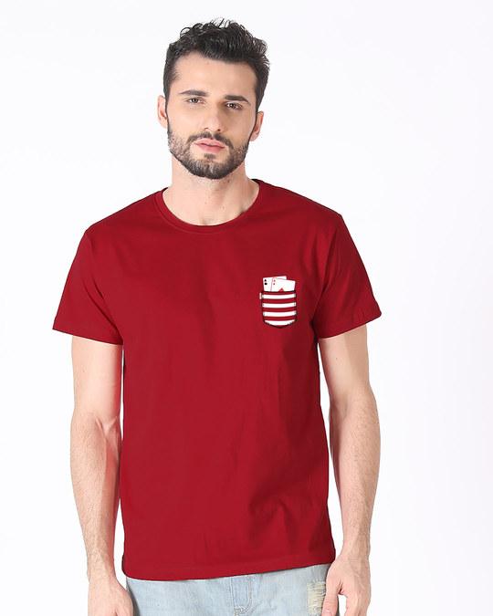 Shop Pocket Poker Half Sleeve T-Shirt-Back