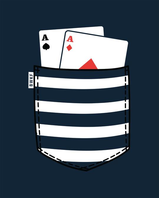 Shop Pocket Poker Round Neck 3/4th Sleeve T-Shirt