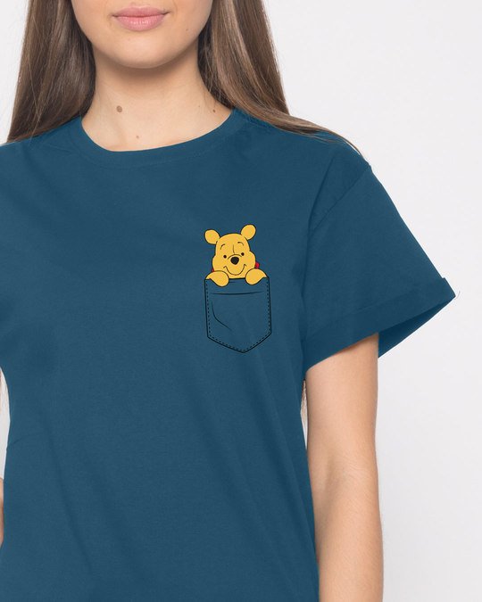 Shop Pocket Pooh Boyfriend T-Shirt (DL)-Front