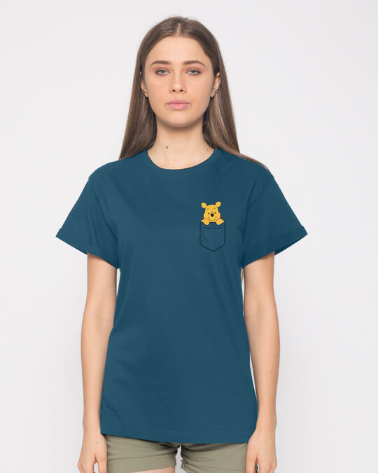 Shop Pocket Pooh Boyfriend T-Shirt (DL)-Back