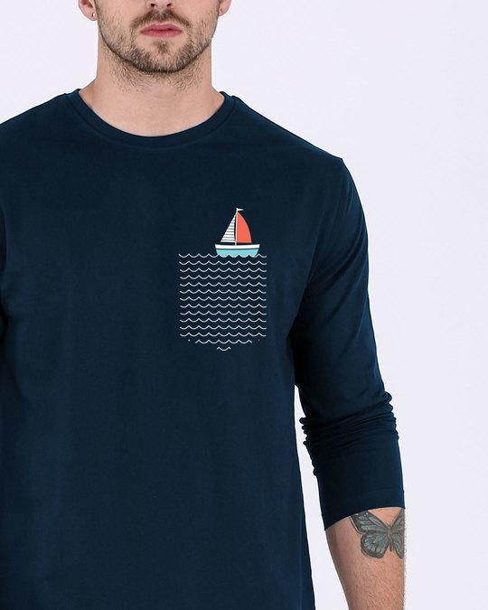 Shop Pocket Sailling Full Sleeve T-Shirt-Front