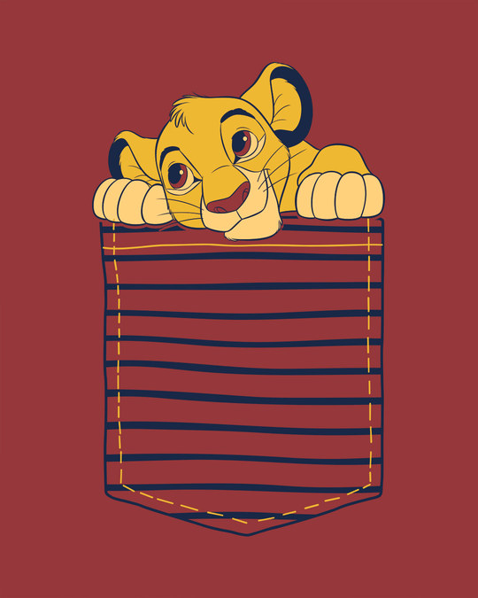 Shop Pocket Simba Boyfriend T-Shirt (DL)