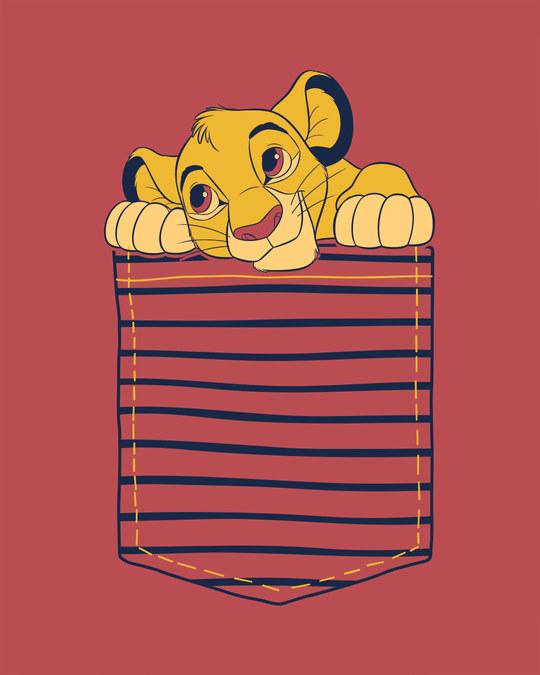 Shop Pocket Simba Half Sleeve T-Shirt (DL)