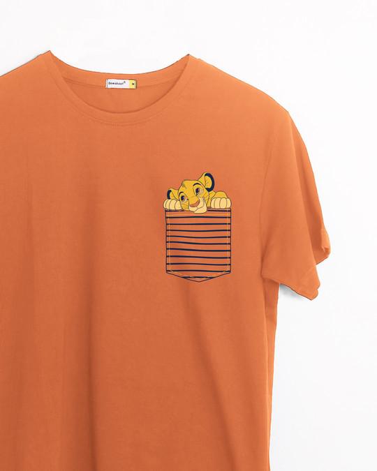 Shop Pocket Simba Half Sleeve T-Shirt (DL)-Front