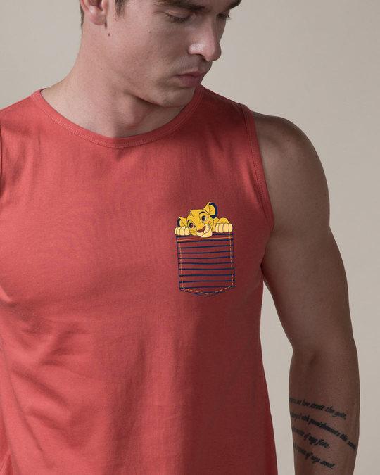 Shop Pocket Simba Vest (DL)-Front