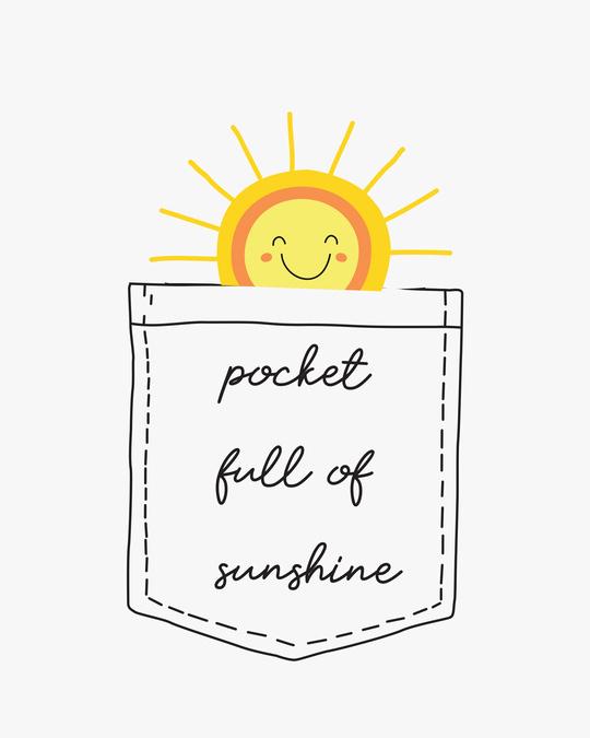 Shop Pocket Sunshine Half Sleeve T-Shirts