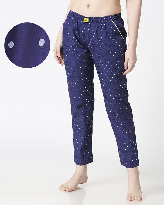 Shop Polka Dot All Over Printed Pyjama-Front