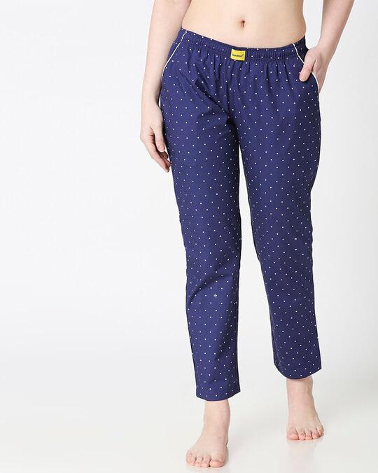 Shop Polka Dot All Over Printed Pyjama-Back