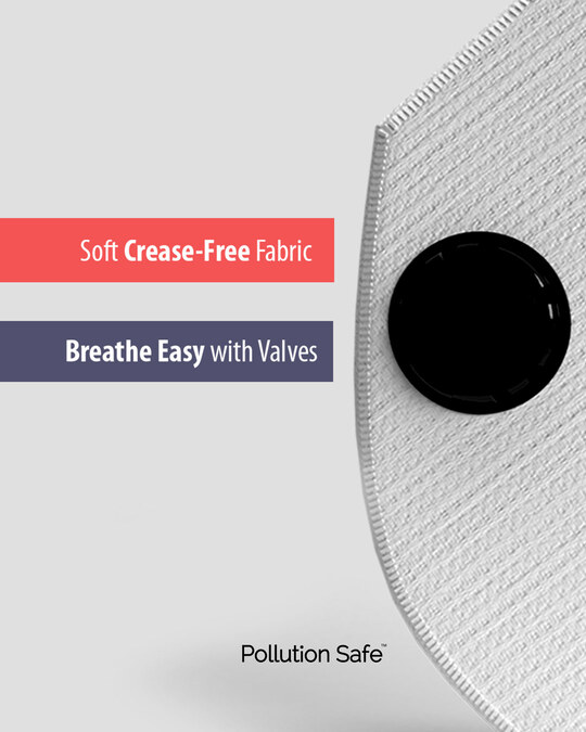 Shop Pollution Safe Reusable PM 2.5,5 Layered Filtration Anti Pollution and Anti Dust Mask Pack of 2-Full