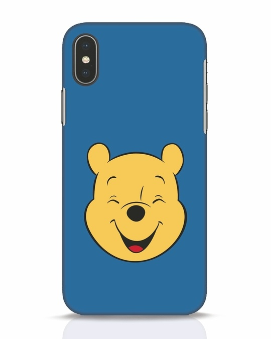 Shop Pooh Face iPhone X Mobile Cover-Front