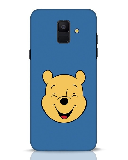 Shop Pooh Face Samsung Galaxy A6 2018 Mobile Cover-Front