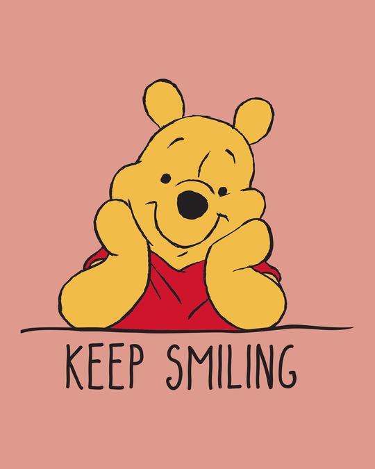 Shop Pooh Keep Smiling Boat Neck 3/4th Sleeve T-Shirt Dress (DL)