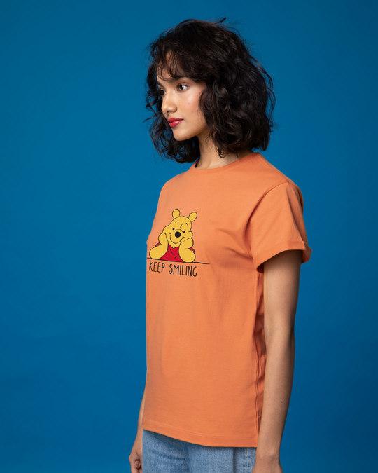 Shop Pooh Keep Smiling Boyfriend T-Shirt (DL)-Back