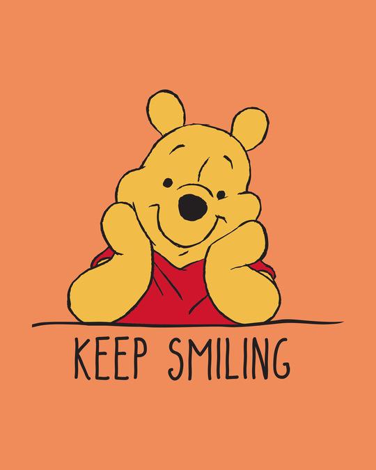Shop Pooh Keep Smiling Boyfriend T-Shirt (DL)