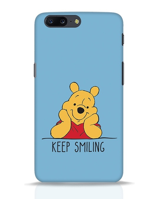 Shop Pooh Keep Smiling OnePlus 5 Mobile Cover-Front