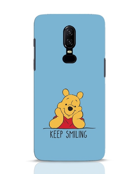 Shop Pooh Keep Smiling OnePlus 6 Mobile Cover-Front