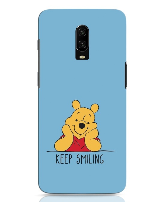 Shop Pooh Keep Smiling OnePlus 6T Mobile Cover-Front