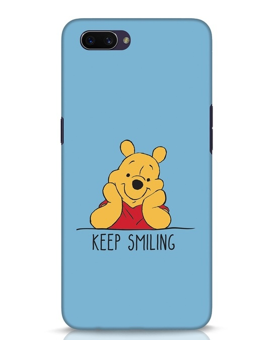 Shop Pooh Keep Smiling Oppo A3S Mobile Cover-Front