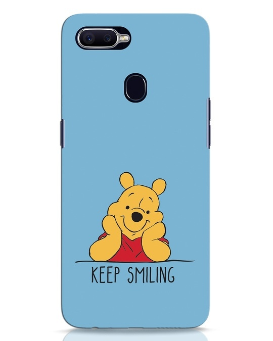 Shop Pooh Keep Smiling Oppo F9 Pro Mobile Cover-Front