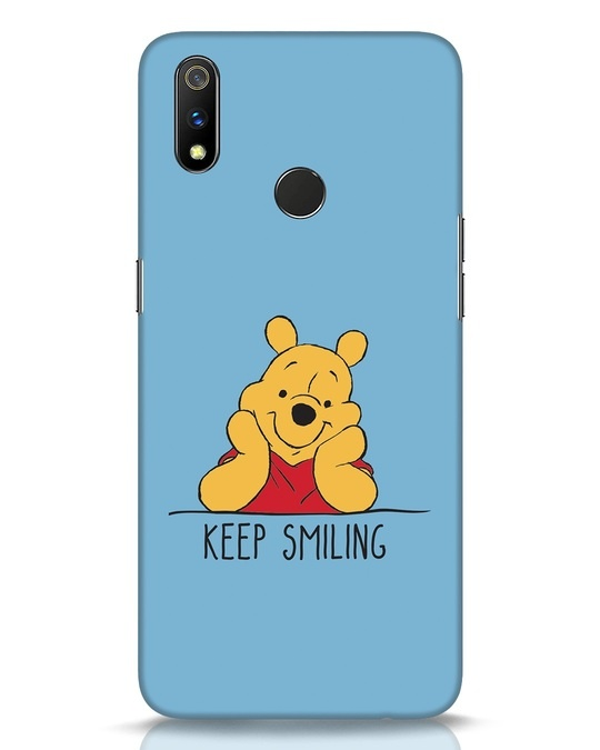Shop Pooh Keep Smiling Realme 3 Pro Mobile Cover-Front