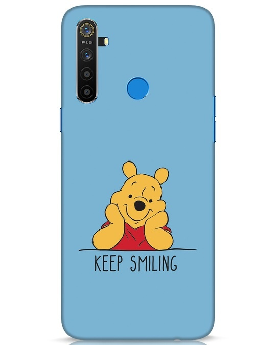 Shop Pooh Keep Smiling Realme 5 Mobile Cover-Front