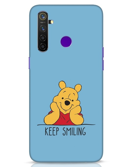 Shop Pooh Keep Smiling Realme 5 Pro Mobile Cover-Front