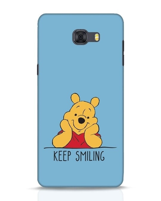 Shop Pooh Keep Smiling Samsung Galaxy C9 Pro Mobile Cover-Front