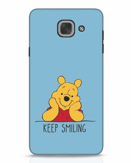 Shop Pooh Keep Smiling Samsung Galaxy J7 Max Mobile Cover-Front