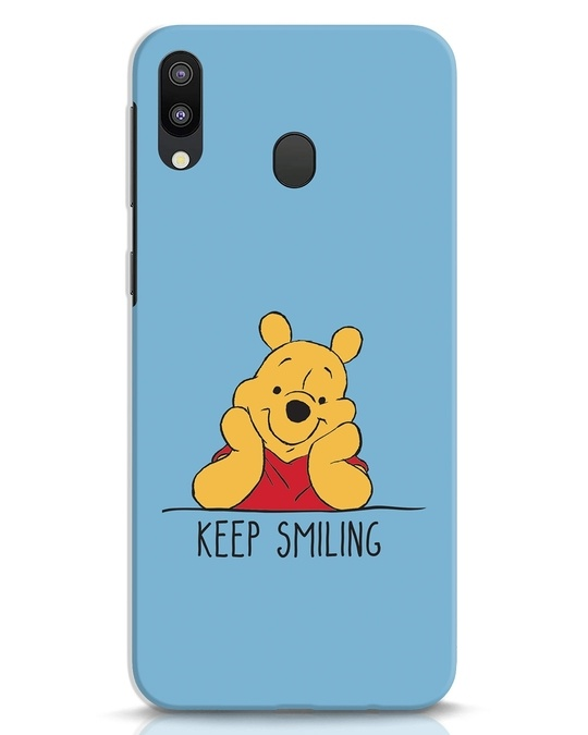 Shop Pooh Keep Smiling Samsung Galaxy M20 Mobile Cover-Front