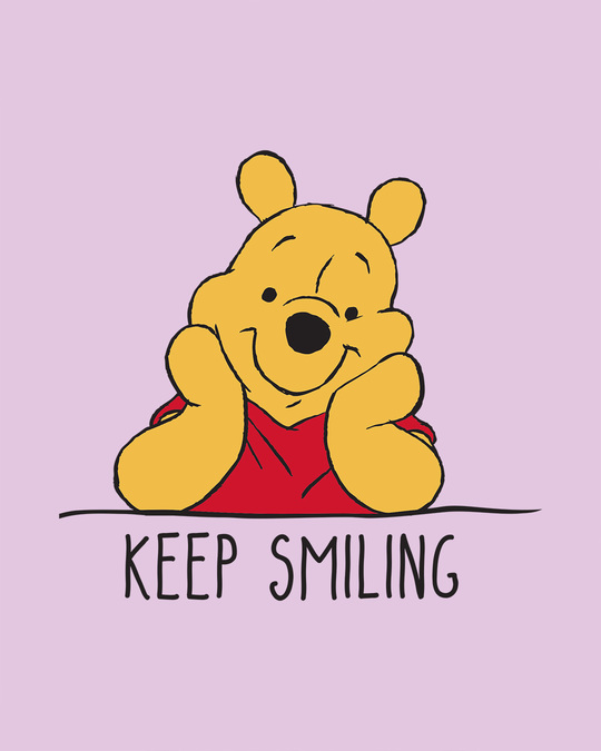 Shop Pooh Keep Smiling Scoop Neck Full Sleeve T-Shirt (DL)-Full
