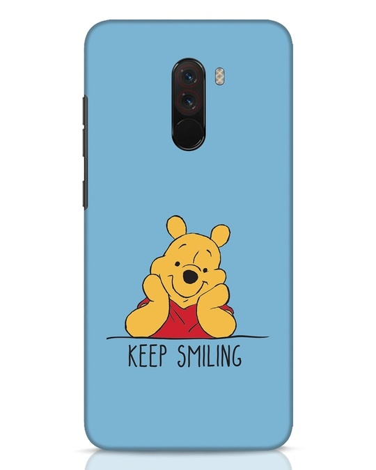 Shop Pooh Keep Smiling Xiaomi POCO F1 Mobile Cover-Front