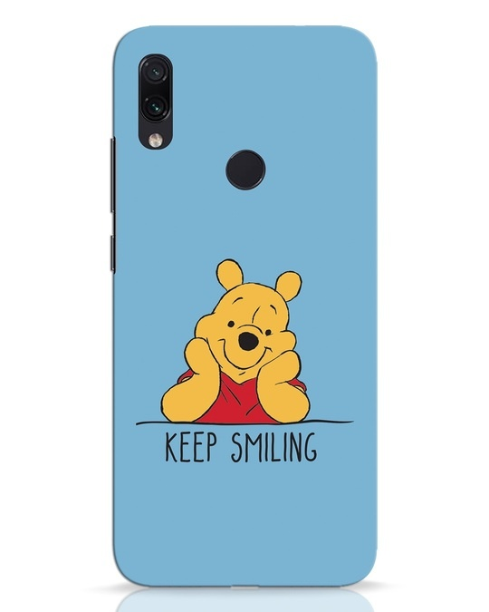 Shop Pooh Keep Smiling Xiaomi Redmi Note 7 Pro Mobile Cover-Front