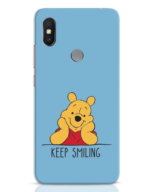 Shop Pooh Keep Smiling Xiaomi Redmi Y2 Mobile Cover-Front