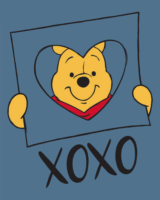 Shop Pooh Xoxo Round Neck 3/4th Sleeve T-Shirt (DL)