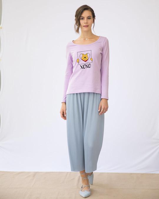 Shop Pooh Xoxo Scoop Neck Full Sleeve T-Shirt (DL)-Design