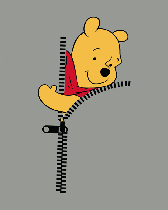 Shop Pooh Zip Boyfriend T-Shirt (DL)