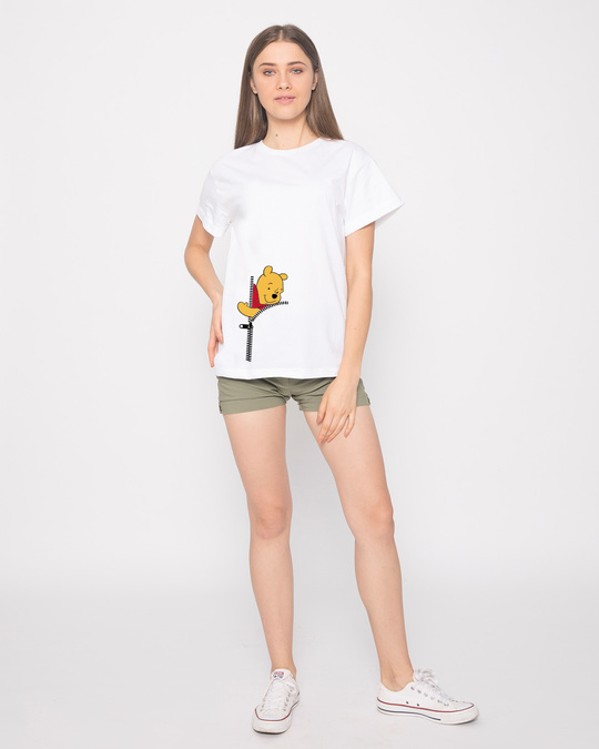Shop Pooh Zip Boyfriend T-Shirt (DL)-Full