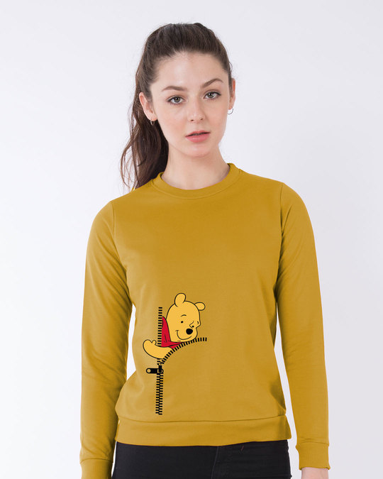 Shop Pooh Zip Light Sweatshirt (DL)-Front