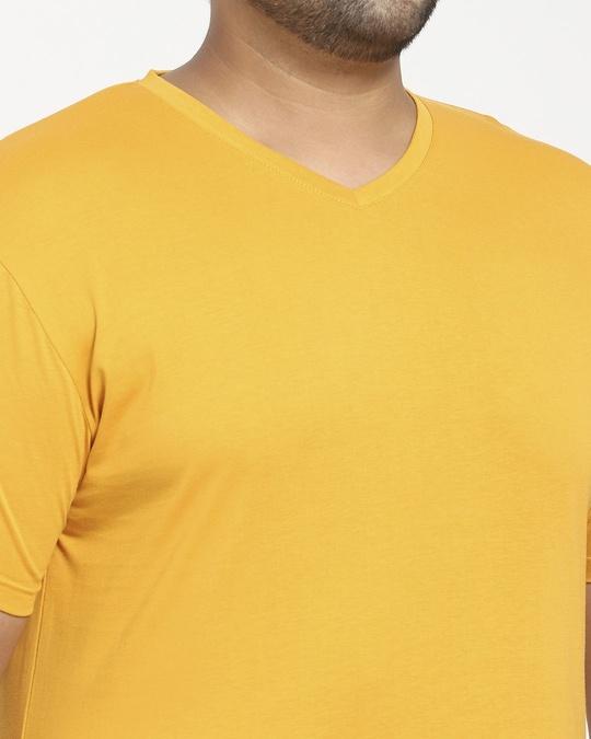 Shop Popcorn Yellow V-Neck T-Shirt