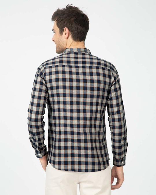 Shop Porpoise Grey Checked Shirt-Full