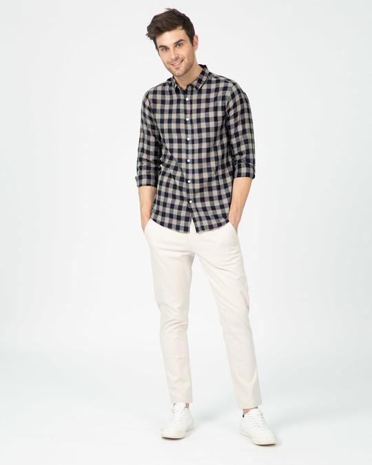 Shop Porpoise Grey Checked Shirt