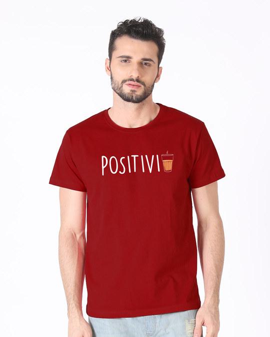 Shop Positivi-tea Half Sleeve T-Shirt-Back