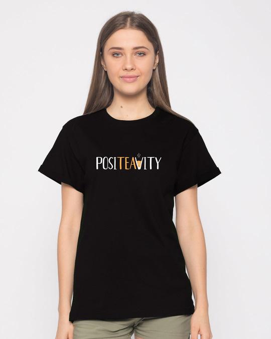 Shop Positivity Boyfriend T-Shirt-Front